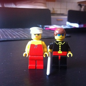 Mackan and Rosi as Minifigs